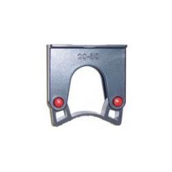 Clip support manche noir pour rail Ø 20-30 mm