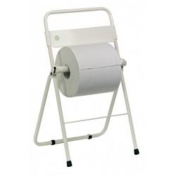 Distributeur papier rouleau métal blanc pour sol