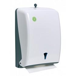 Distributeur papier Zig Zag ABS blanc L 130 mm
