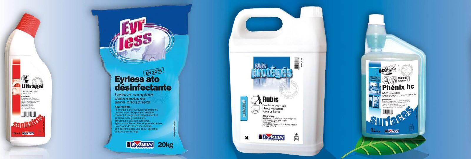 EYREIN Industrie a conçu une gamme de produits très complète adaptée à chaque métier